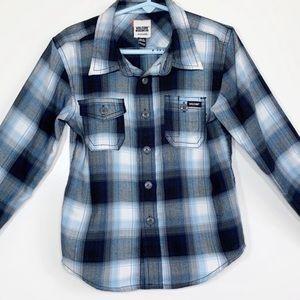 Volcom WorkWear plaid long sleeve flannel Sz S